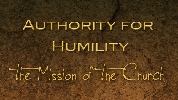 Authority for Humility