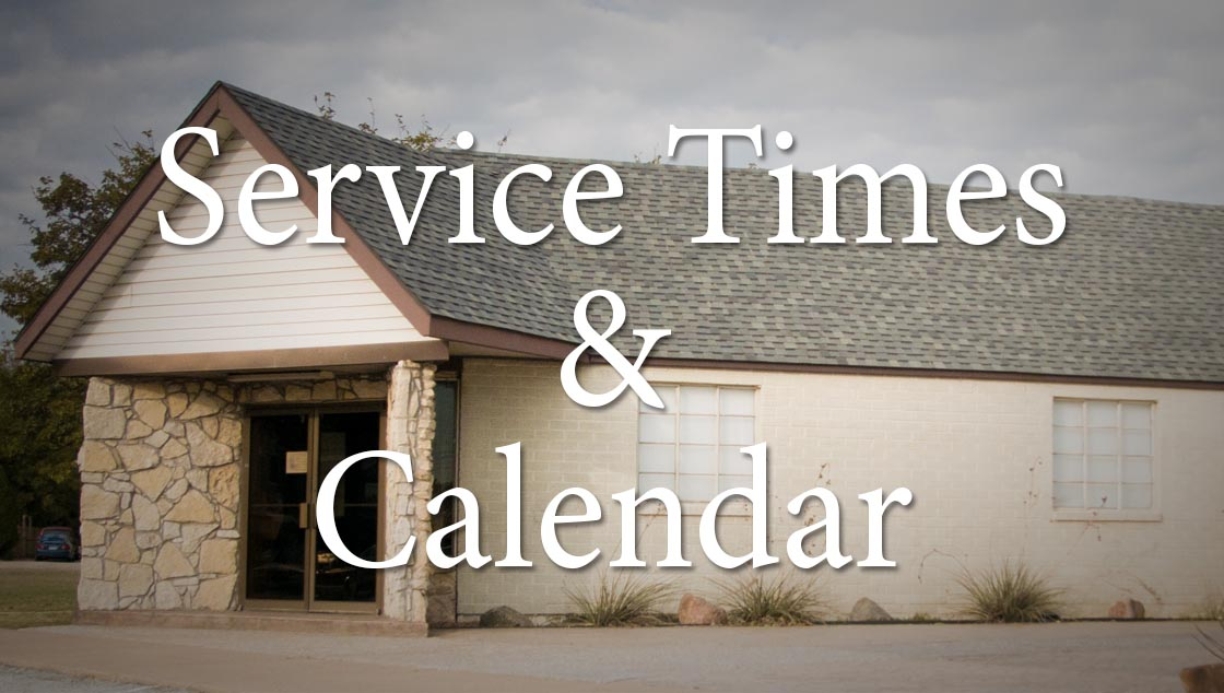 church service times and calendar